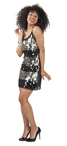 Boland 87408 Erwachsenenkleid mit Glitzertropfen, (Kostüme Tanz Mädchen Disco)