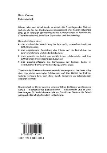 Elektrotechnik: Lehr- und Arbeitsbuch