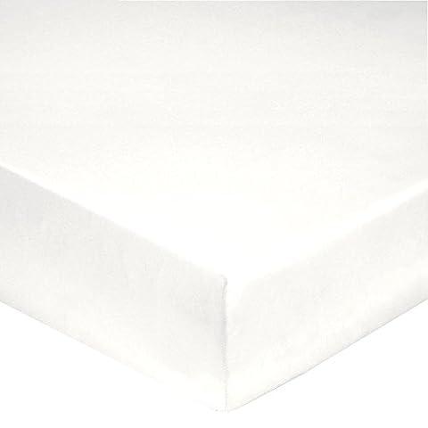 Blanc des Vosges Drap 4 Têtes, Coton, Blanc, 180 x 200 cm