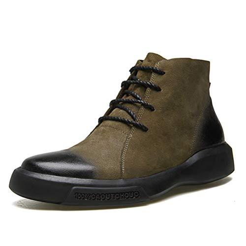 XI-GUA Herren Schneestiefel Pelz Interieur Warm Martin Schuhe aus weichem Leder Casual Skid Schuhe -