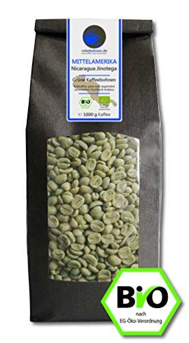 Bio Rohkaffee - Grüner Hochland Kaffee Nicaragua Jinotega (grüne Kaffeebohnen 1000g)