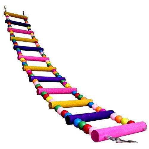 Komisch Swing Holz-Maus Ratte Papagei Vogel Hamster Leiter Crawling-Brücke Spielzeug Shelf Cage Spaß (10 Schritte 70cm)