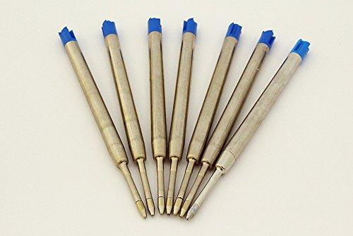 Confezione da 7 ricariche refill penna a sfera tipo parker inchiostro blu NOBRAND