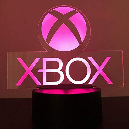 Xbox Gamer Games Logo 3D Acryl Led 7 Farben Nachtlicht Tischlampe Geschenk Fernbedienung