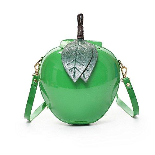 Berrose-Frauen Mode Apple Handtasche Zipper Bag Schultertasche Tote Damen Messenger abendtasche taschen kaufen umhängetaschen sportlich handtasche leder tasche geldbörse klein
