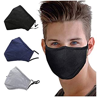 3 Pack Activated Carbon Filter Anti Dust Face Mouth Mask, WITERY Warm Anti Dust Mask Anti-fog Mask Antibacterial Activated Carbon Filter Adjustable Earloop Mouth Mask Face Masks for Men Women