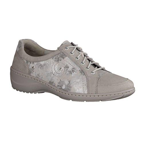 Waldläufer  Kya, Chaussures de ville à lacets pour femme Gris