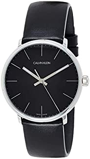 Calvin Klein Men's Quartz Watch, Analog Display and Leather Strap K8M2