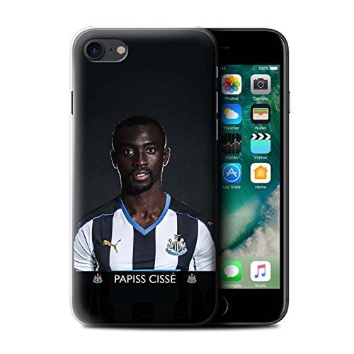 Officiel Newcastle United FC Coque / Etui pour Apple iPhone 7 / Townsend Design / NUFC Joueur Football 15/16 Collection Cissé