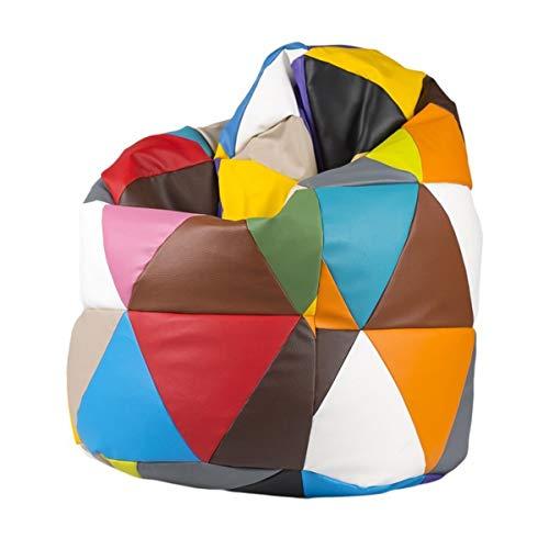 Ecopuf Sitzsack L Patchwork Design Sitzsack Sitzsack Sitzsack Sitzsack Sitzsack 110 x 70 cm 220 Liter Doppelnähte (Puf Pieno)