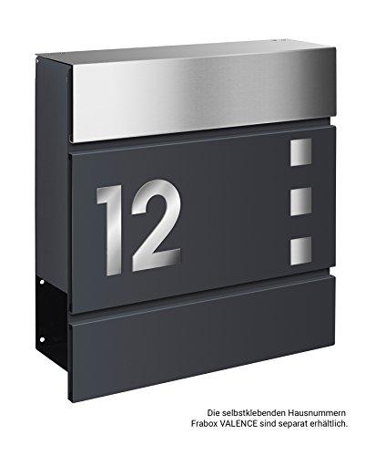 Frabox Design Briefkasten LENS Edelstahl / Anthrazitgrau Exklusiv - 5
