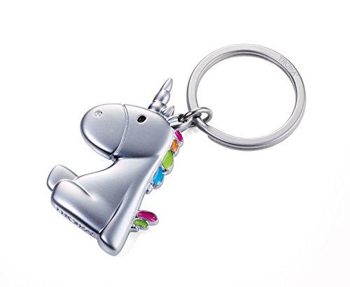 TROIKA UNICORN - KR17-08/MA - Schlüsselanhänger - Einhorn - Unicorn - nicht das letzte seiner Art - Metallguss - niedlich - mehrfarbig - das ORIGINAL von TROIKA