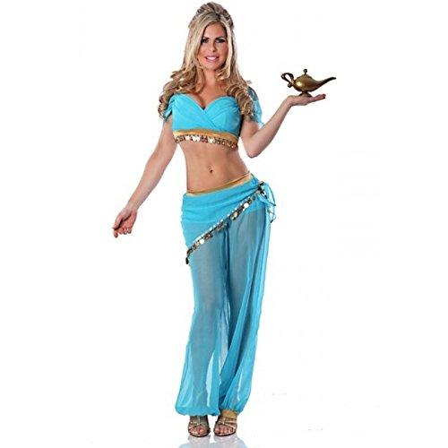Haar Jasmin Kostüm - LLY Erwachsenen Prinzessin Jasmin sexy Bauchtanz Cosplay Kostüm Halloween-Kostüm, M