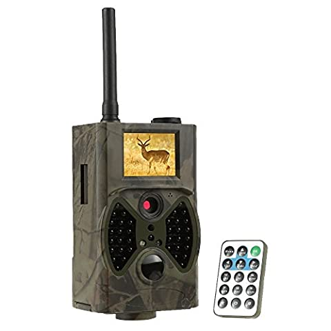 EMEBAY - 32GB TF carte fournie + Caméra de Chasse Surveillance Vidéo avec Ecran LCD 2,0
