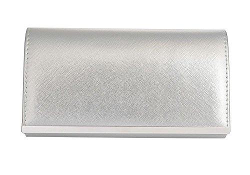 Hautefordiva , Damen Clutch Light Bronze S silber