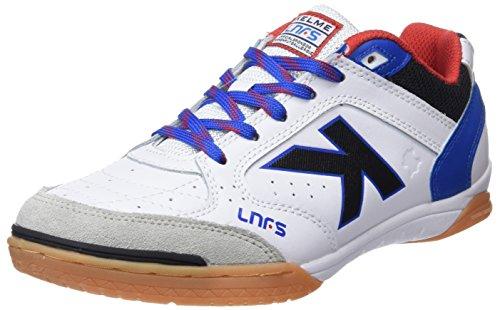 6 - Kelme Precision Lnfs 18, Zapatillas de Fútbol Sala para Hombre, Blanco (Blanco 6), 42 EU