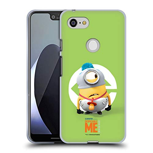 Head Case Designs Offizielle Despicable Me Stuart Baby Kostuem Minions Soft Gel Huelle kompatibel mit Google Pixel 3 XL