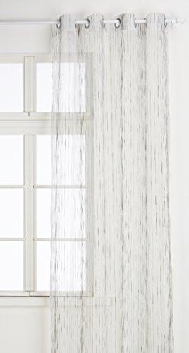 HomeMaison.Com HM69807004 Tenda Organza Tessuto Poliestere/Acrilico Bianco 140 x 260 cm