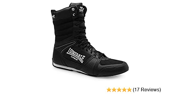 more photos f05ef 0e43a Lonsdale Mens Contender Boxing Boots Full Lace Up Sport Shoes Trainers  Footwear  Amazon.co.uk  Shoes   Bags
