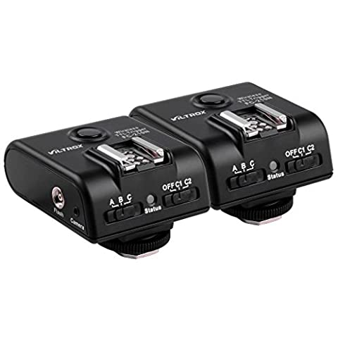 Kaavie - Viltrox Déclencheur à distance sans fil E-TTL et déclencheur flash à haute vitesse / déclencheur multifonctionnel 3-en-1 pour Nikon, FSK 2.4 Ghz, incl. 2 x FC-210N Déclencheur à distance sans fil TTL (tranceiver), 3 x lignes de connexion, mini pied pour flash), Mod. FC-210N