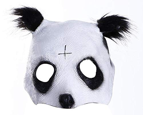 Mimiga Panda Maske Obere Hälfte Gesicht Panda Latexmaske Halloween Horror Grimasse Zombie Maske Party Maske