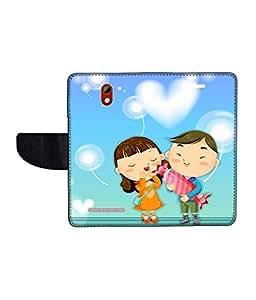 KolorEdge Printed Flip Cover For HTC Desire 500 Multicolor - (45KeMLogo09872HTC500)