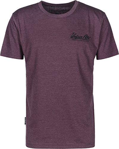 Unfair Athletics Hammerbelt T-Shirt weinrot meliert