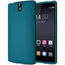 Diztronic Matte Flessibile Custodia TPU Completo per OnePlus One, Teal Blu