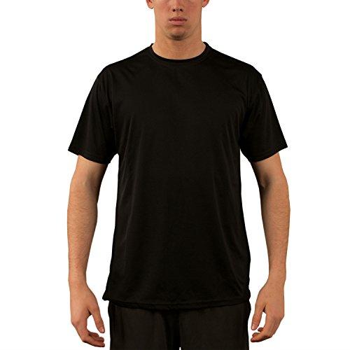Vapor Apparel Herren UPF 50+ UV Sonnenschutz Kurzarm Performance T-Shirt X-S Schwarz - Stiftung Schwarzes T-shirt