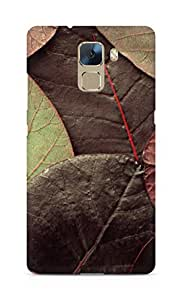 Amez designer printed 3d premium high quality back case cover for Huawei Honor 7 (Leafy pattern)