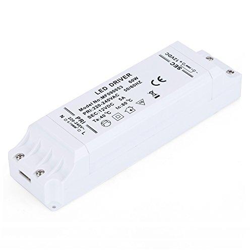 Preisvergleich Produktbild Liqoo® 60W LED Trafo Treiber Transformator Netzteil für Leuchmittel DC 12V 5A