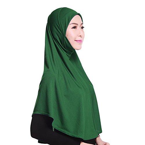 Brightup Frauen Lady Muslim islamischen Hanfstoff Kopftuch Schal Kopfbedeckungen