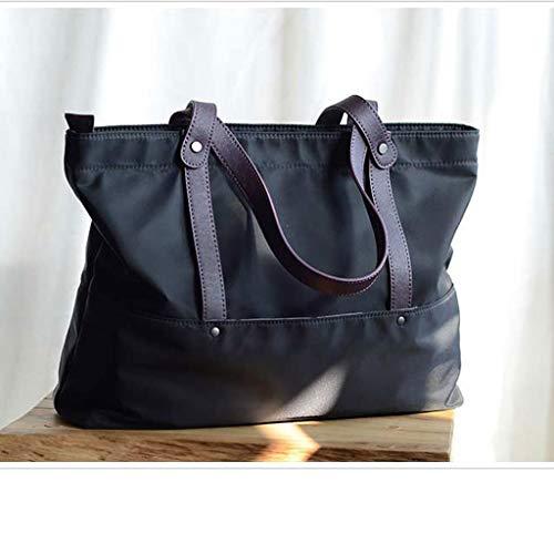 Wghz Nylon mit Leder Umhängetasche Oxford Tuch Licht Pendeln Umhängetasche praktische Mode Einkaufstasche weiblich