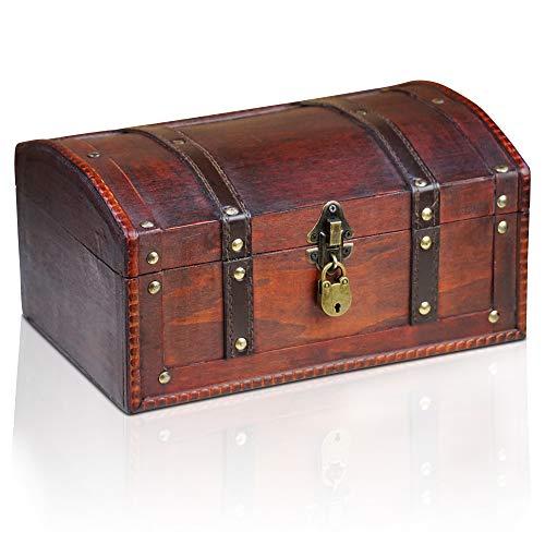 Brynnberg-Caja-de-Madera-Flanders-30x20x15cm-Cofre-del-Tesoro-Pirata-de-Estilo-Vintage-Hecha-a-Mano-Diseo-Retro-joyero-con-candado