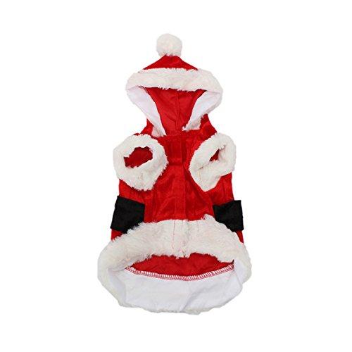 Tutoy Haustier-Welpen-Hund Weihnachts-Weihnachtsmann-Kleidunghoodie Outfit Outwear Mantel (Meerschweinchen Kostüme Niedliche Für)