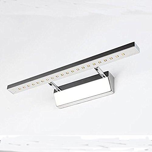 SJMM  Led-Spiegel an der vorderen Wand Lampe 5W 21leds SMD5050 Edelstahl bad Wandspiegel leuchten warm / kalt-weiß 85 bis 265v,silber,weiß (5500-7000K)(#JD-0498)