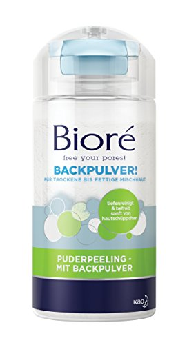 Bioré Puderpeeling - mit Backpulver, 2er Pack (2 x 125 g)