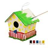 ROBOTIME 3D Hölzernes Puzzle - Vogelhaus Mit Malerei Werkzeuge Kind Pädagogisches Woodcraft Puzzlespiel-Spielzeug DIY Installationssatz (Bird House 4)