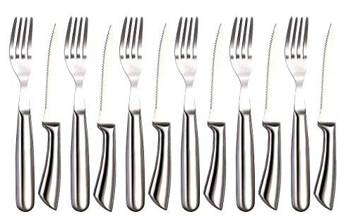 Rosenstein & Söhne Steakmesser: 12-teiliges Steakbesteck (Besteck Set)