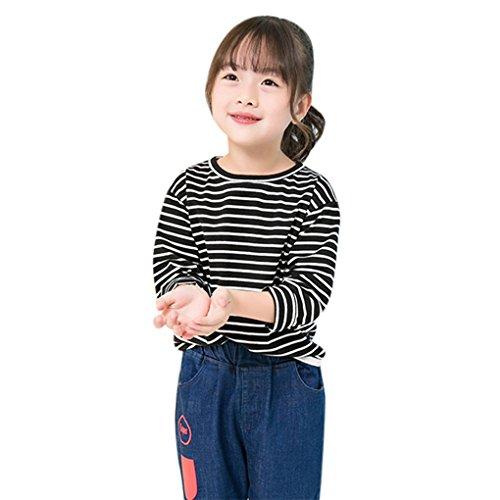 Babykleidung❀❀ JYJMKleinkind Kind Kinder Baby Jungen Mädchen Streifen Langarmshirts T-Shirt Blusen (Größe: 5-6 Jahr, (Up Dress Ideen Sport)