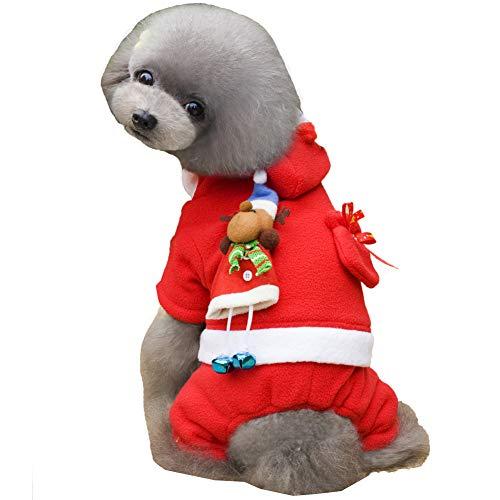CHIYEEE Weihnachtshaustier Weihnachtsmann Kostüm Hundekatzen Lustiger Mantel Niedlicher Kleidungs Welpen Halloween Sweatshirt Ankleiden - Niedliche Und Lustige Kostüm