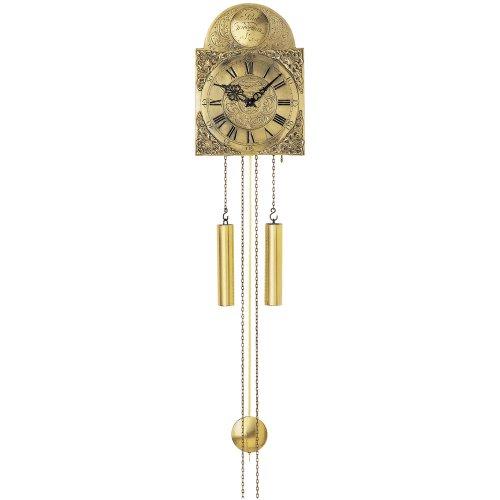 Wanduhr - AMS mit Pendel mechanisch Messing Altmessing Pendeluhr antik
