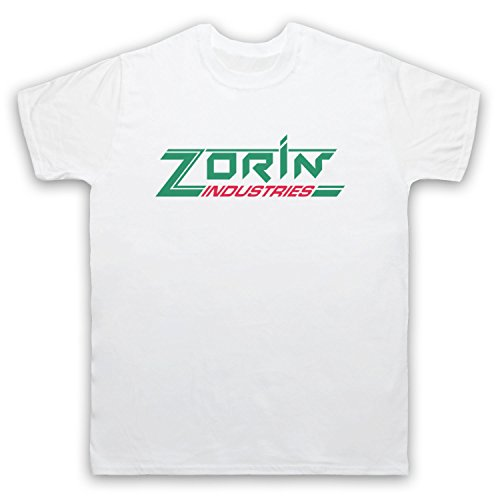 Inspiriert durch James Bond A View To A Kill Zorin Industries Inoffiziell Herren T-Shirt, Weis, XL (Erwachsenen T-shirt James)