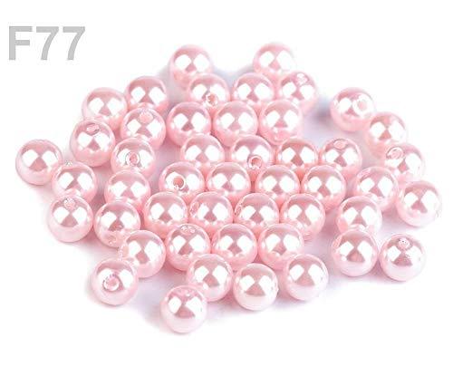 10gramm F77 Puderig Wachsperlen Aus Kunststoff Glance Ø8mm, Kunststoffperlen Mit Effekt Von Echten, Und FIMO -