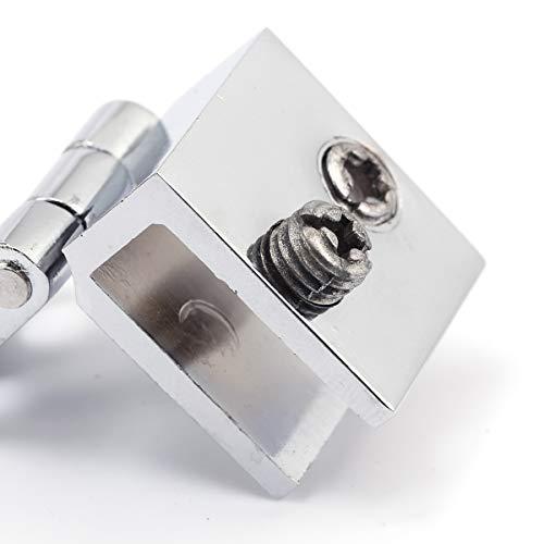 41buGplsMyL - SurePromise - Juego de bisagras para puerta de cristal (4 unidades, 5 mm-8 mm, rectángulo, ajustables)