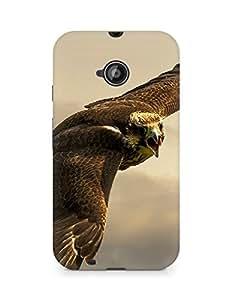 Amez designer printed 3d premium high quality back case cover for Motorola Moto E2 (Eagle hunt you)