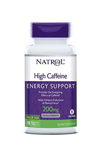 Natrol High Caffeine 200 mg (100) Standard, 50 g -
