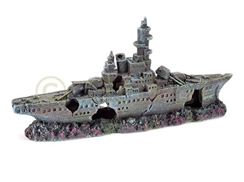 Aquarium Deko Marineschiff Militärschiff Kriegsschiff Schiff Boot Wrack