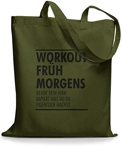 StyloBags Jutebeutel / Tasche Workout früh am morgen Khaki