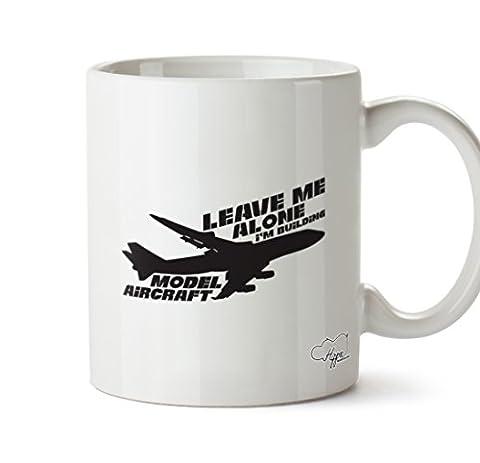 Hippowarehouse Leave Me Alone I'm Modèle de construction Aircraft 283,5gram Mug Cup, Céramique, blanc, One Size (10oz)